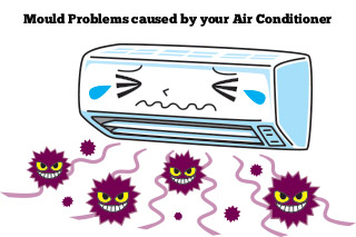 Mould Problems caused by air conditioning